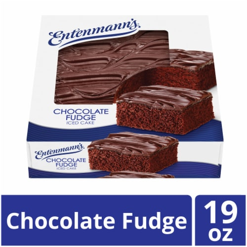 Entenmann's Chocolate Fudge Iced Cake Perspective: front