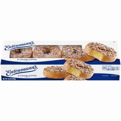 Entenmann's® Crumb Topped Donuts Perspective: front