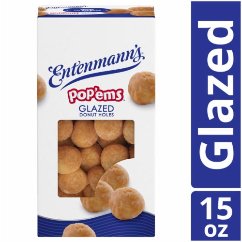Entenmann's Pop'ems Glazed Holes Perspective: front