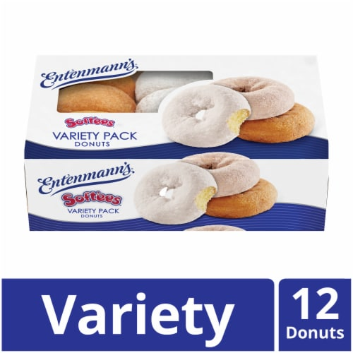Entenmann's Softees Variety Donuts Perspective: front