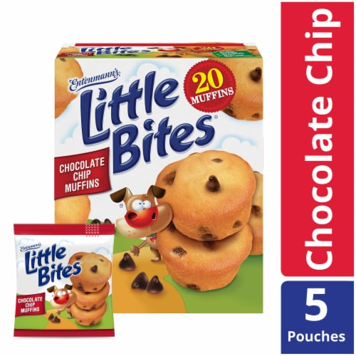 Entenmann's Little Bites Chocolate Chip Muffins Pouches Perspective: front