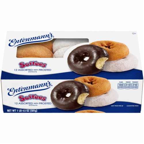 Entenmann's Soft'ees Assorted Frosted Donuts Perspective: front