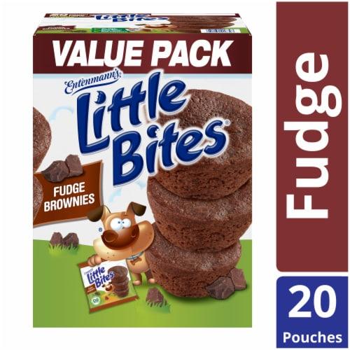 Entenmann's Little Bites Fudge Brownies Pouches Perspective: front