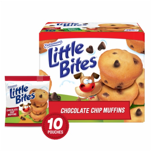 Entenmann's Little Bites Chocolate Chip Mini Muffins Perspective: front