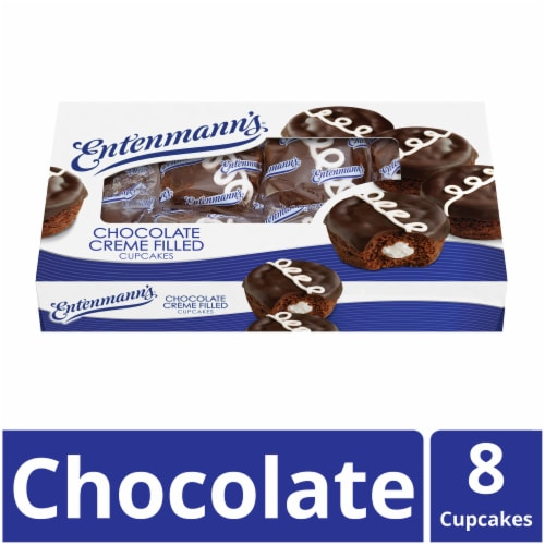 Entenmann's® Chocolate Creme Filled Cupcakes Perspective: front
