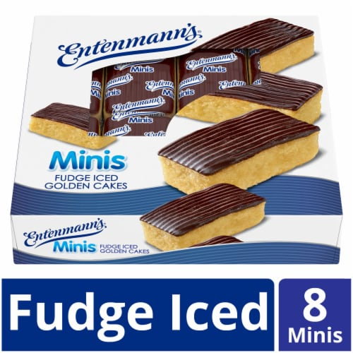 Entenmann's Minis Fudge Iced Golden Cakes 8 Count Perspective: front