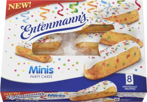Entenmann's Minis Party Cakes 8 Count Perspective: front
