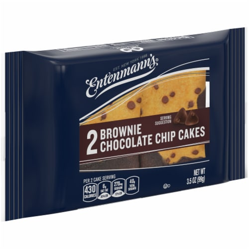 Entenmann's Brownie Chocolate Chip Cakes Perspective: front