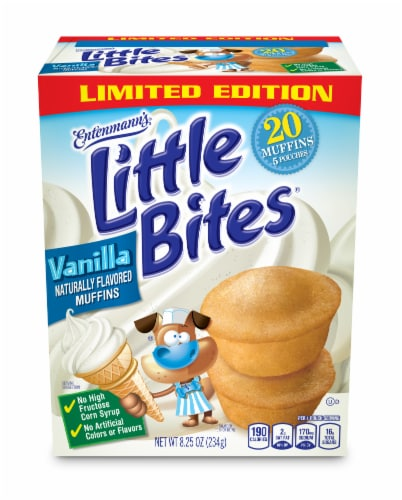 Entenmann's Little Bites Limited Edition Vanilla Mini Muffin Pouches Perspective: front