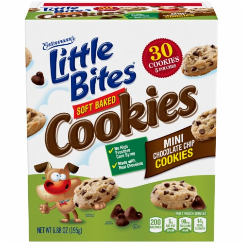 Entenmann's Little Bites Soft Baked Mini Chocolate Chip Cookies Perspective: front