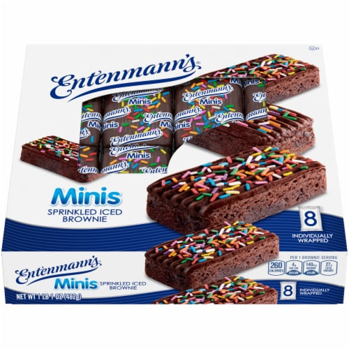 Entenmann's® Minis Sprinkled Iced Brownies Perspective: front