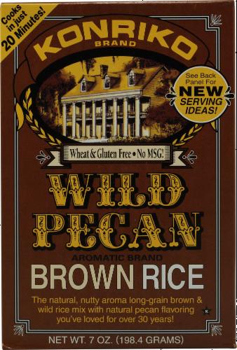 Konriko Wild Pecan Brown Rice Perspective: front