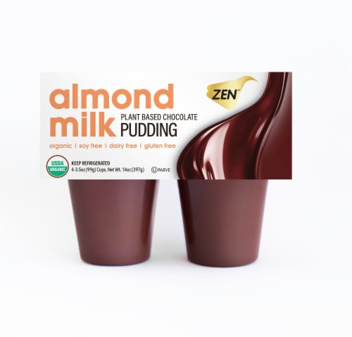 Zen Plant Based Chocolate Almond Milk Pudding Perspective: front