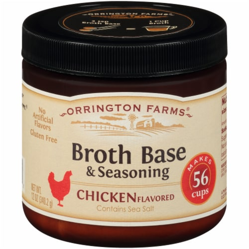 Orrington Farms Chicken Flavored Broth Base & Seasoning Perspective: front