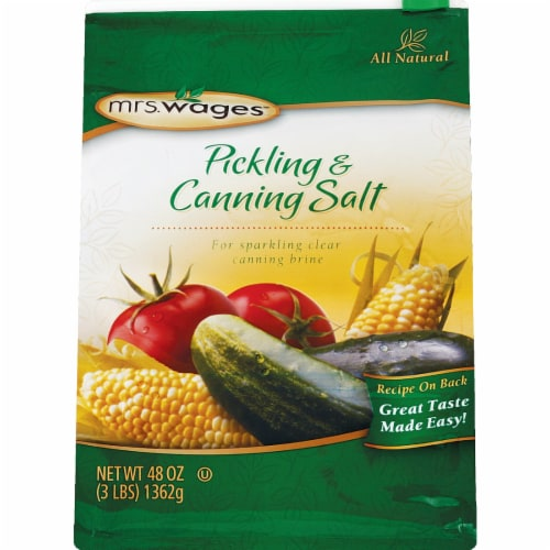 Mrs. Wages 48 oz. Canning & Pickling Salt W510-B4425 Perspective: front