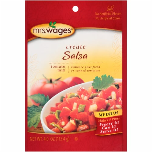Mrs. Wages® Medium Salsa Tomato Mix Perspective: front