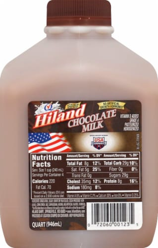 Hiland Dairy Chocolate Milk Perspective: front
