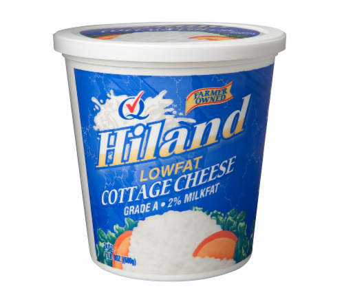 Hiland Dairy Low Fat Cottage Cheese Perspective: front