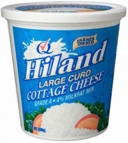 Hiland Dairy Large Curd Cottage Cheese Perspective: front