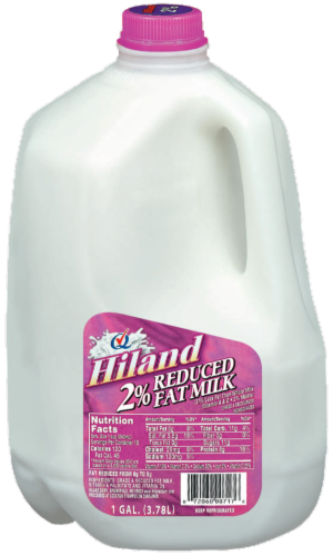 Hiland Dairy 2% Reduced Fat Milk Perspective: front