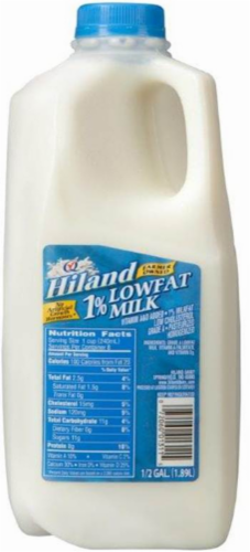 Hiland Dairy 1% Low Fat Milk Perspective: front