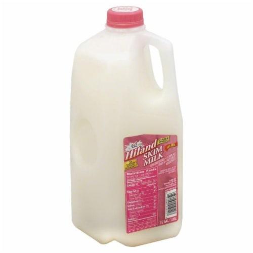 Hiland Dairy Fat Free Skim Milk Perspective: front