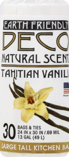 Deco Earth Friendly Natural Scent Fresh Lemon Large Tall Kitchen Trash Bags Perspective: front
