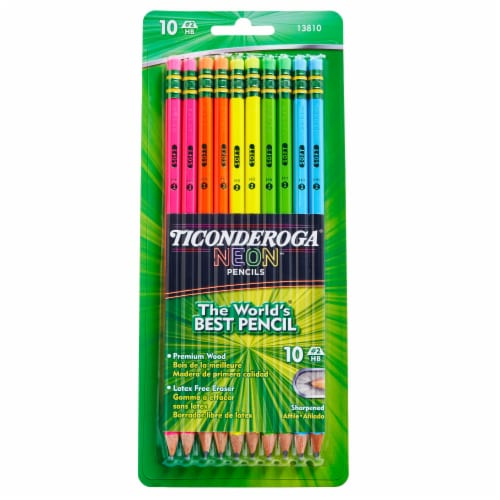 Ticonderoga Neon #2 Sharpened Pencils Perspective: front