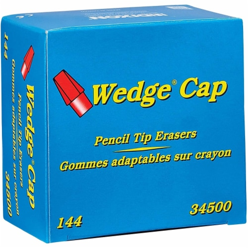 Dixon Wedge Cap Erasers, for Pencil Marks, Pink, 144/Box 34500 Perspective: front
