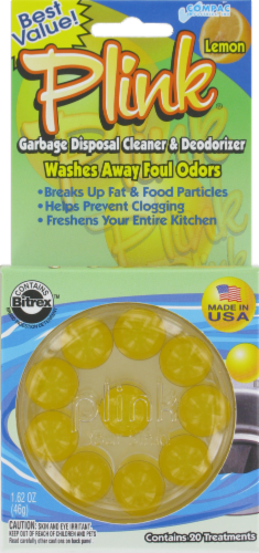 Plink Garbage Disposal Fresh Cleaner and Deodorizer - Lemon Perspective: front