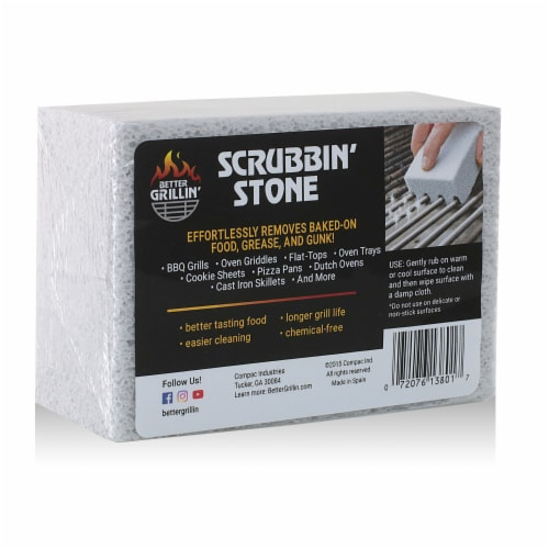 Better Grillin Scrubbin Stone Grill Cleaner-Scouring Brick/Barbecue Brush, 1pk Perspective: front
