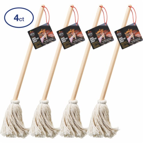 Better Grillin BBQ Bastin Mop Basting Barbecue Brush Easily Applies Marinade 4pk Perspective: front