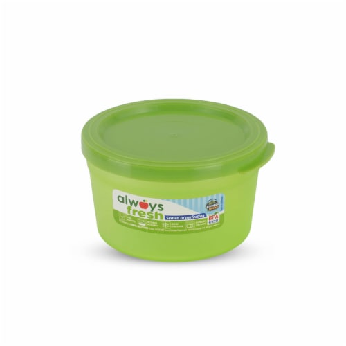 Compac Home Always Fresh Food Storage Container - Cylinder Bowl - 8oz Lt Green Perspective: front