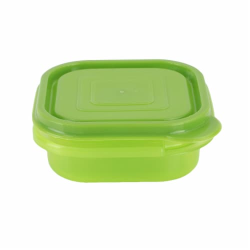 Compac Home Always Fresh Food Storage Square Bowl Container - 7oz Light Green Perspective: front