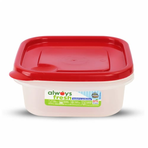 Compac Home Always Fresh Food Storage Mini Sandwich Bowl - 16oz Red Chef Perspective: front