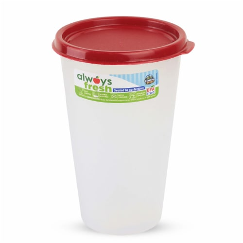 Compac Home Always Fresh Food Storage Plastic Tumbler with Lid - 14oz Red Chef Perspective: front