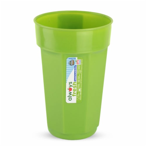 Compac Home Always Fresh Food Storage Plastic Tumbler - 22oz Light Green Perspective: front