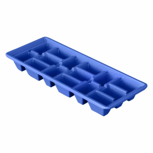 Compac Home Always Fresh Food Storage Ice Cube Tray Makes 15 Cubes - Ocean Blue Perspective: front