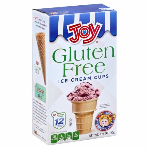 Joy Gluten Free Ice Cream Cups 12 Count Perspective: front