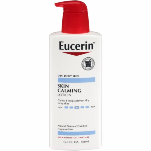 Eucerin Skin Calming Fragrance Free Body Lotion with Natural Oatmeal 16.9 fl oz Perspective: front