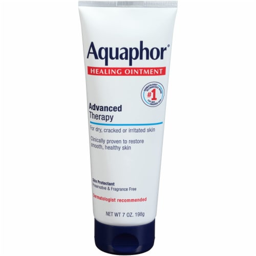 Aquaphor Healing Ointment Advanced Therapy Skin Lotion Perspective: front