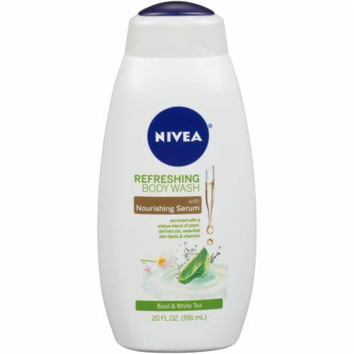 Nivea Basil & White Tea Refreshing Body Wash Perspective: front