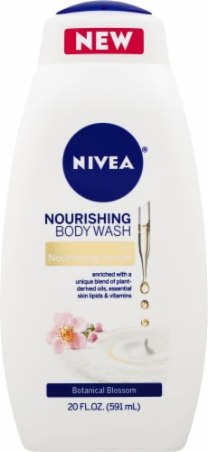 Nivea Botanical Blossom Nourishing Body Wash Perspective: front