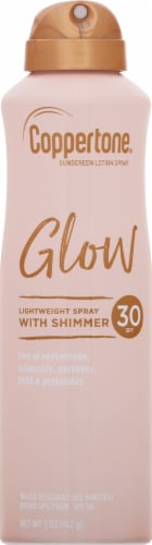 Coppertone Glow with Shimmer Sunscreen Spray SPF 30 Perspective: front