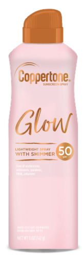 Coppertone Glow with Shimmer Sunscreen Spray SPF 50 Perspective: front