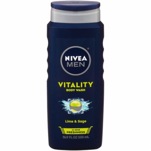 Nivea Men Lime & Sage Vitality Body Wash Perspective: front