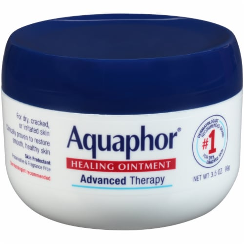Aquaphor Advanced Therapy Healing Ointment 3.5 fl oz Perspective: front