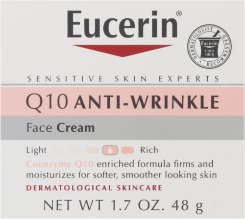 Eucerin Q10 Anti-Wrinkle Sensitive Skin Face Creme Perspective: front