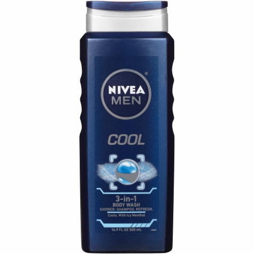 Nivea Men Cool 3-in-1 Body Wash Perspective: front