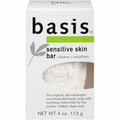 Basis Sensitive Skin Bar Soap 4 oz Perspective: front